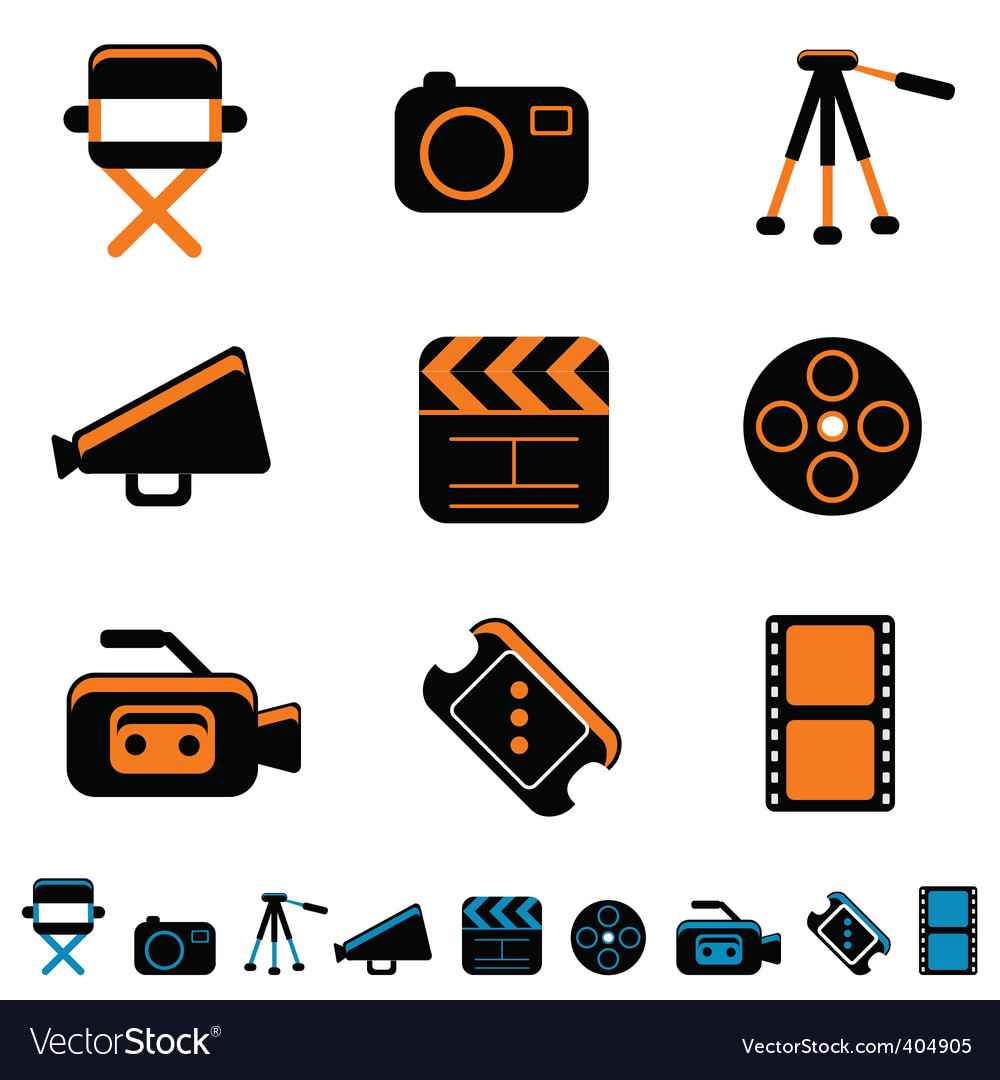 Video and photo icon vector | Price: 1 Credit (USD $1)