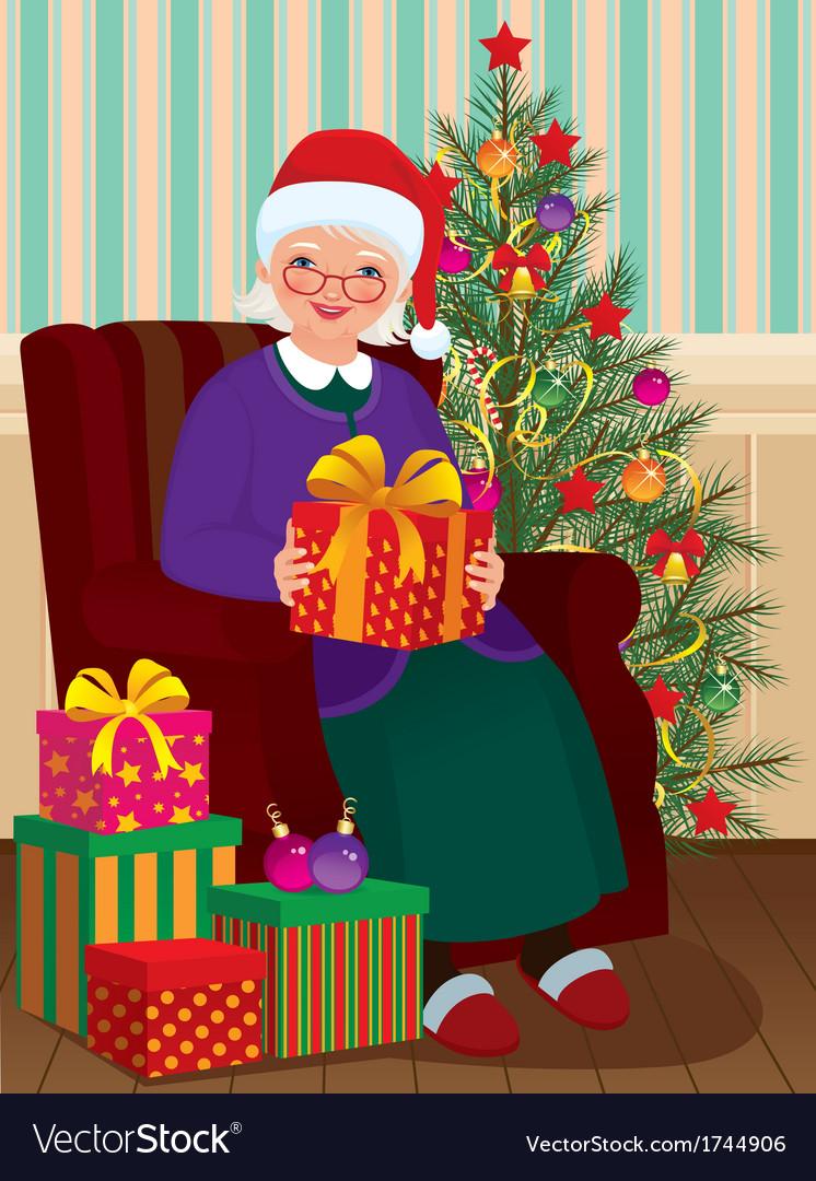Christmas gifts for grandma vector | Price: 3 Credit (USD $3)