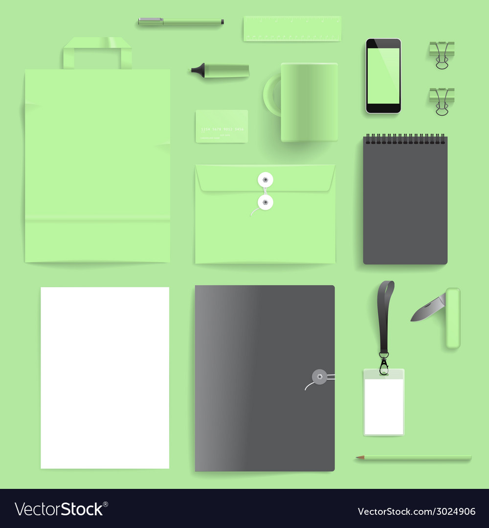 Corporate identity mock-up template vector | Price: 1 Credit (USD $1)
