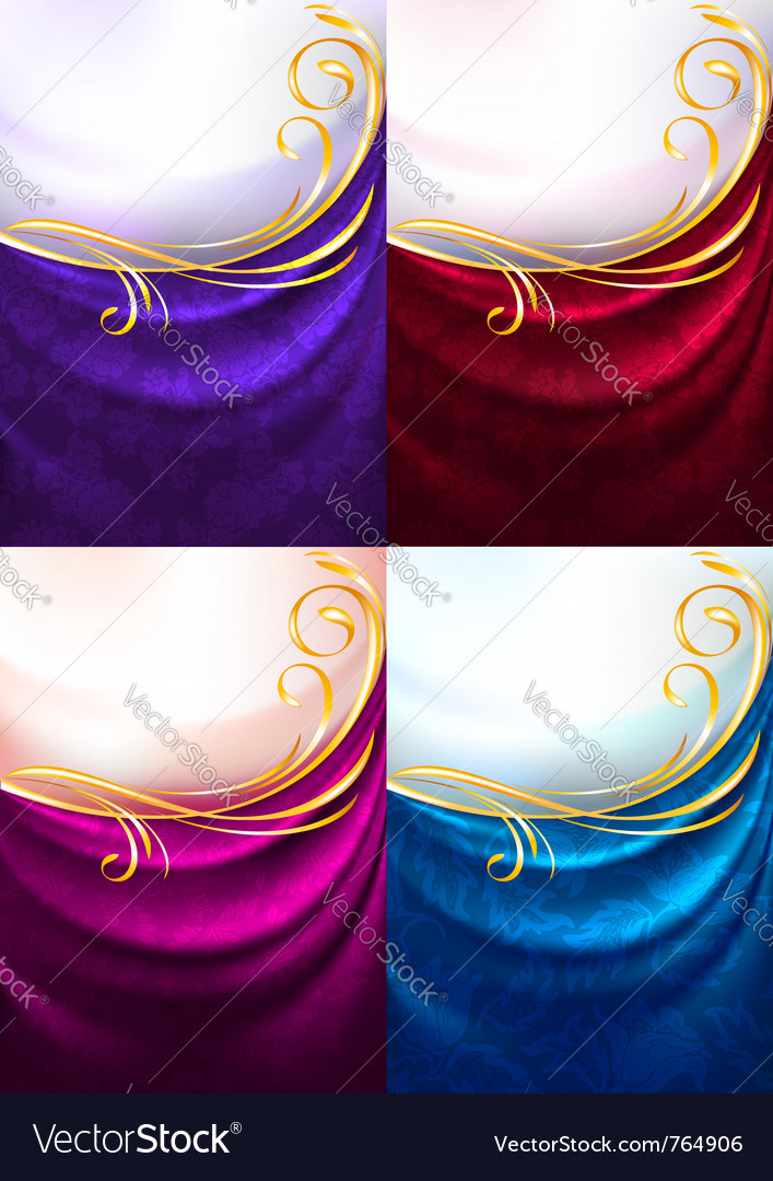 Fabric ornamental background vector | Price: 1 Credit (USD $1)