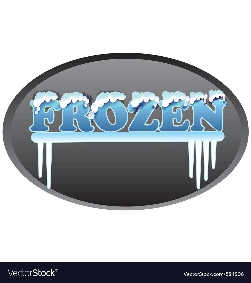 Frozen logo vector | Price: 1 Credit (USD $1)