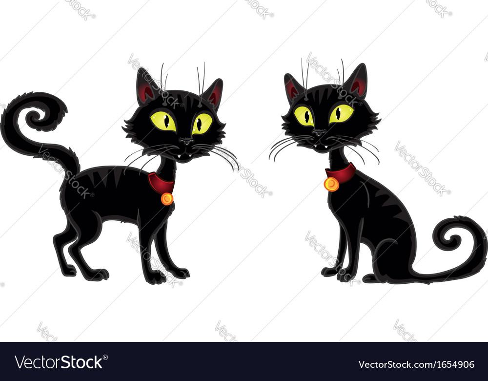 Halloween terrible black cat vector | Price: 1 Credit (USD $1)