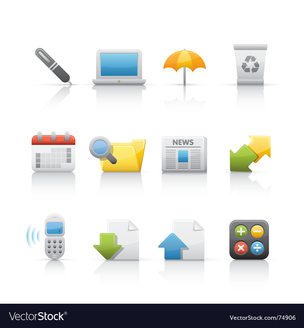 Icon set office and business vector | Price: 1 Credit (USD $1)