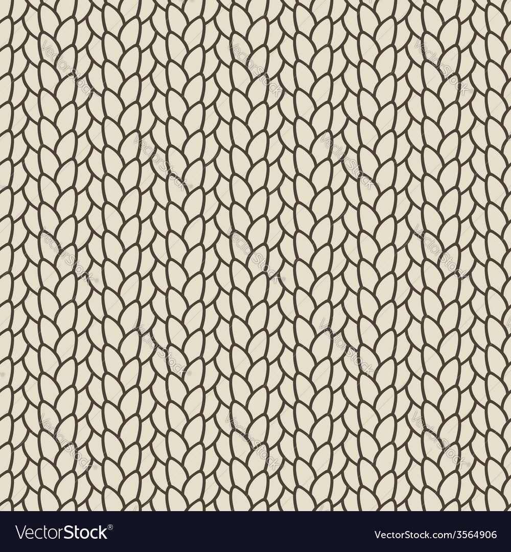 Knitted seamless pattern vector | Price: 1 Credit (USD $1)