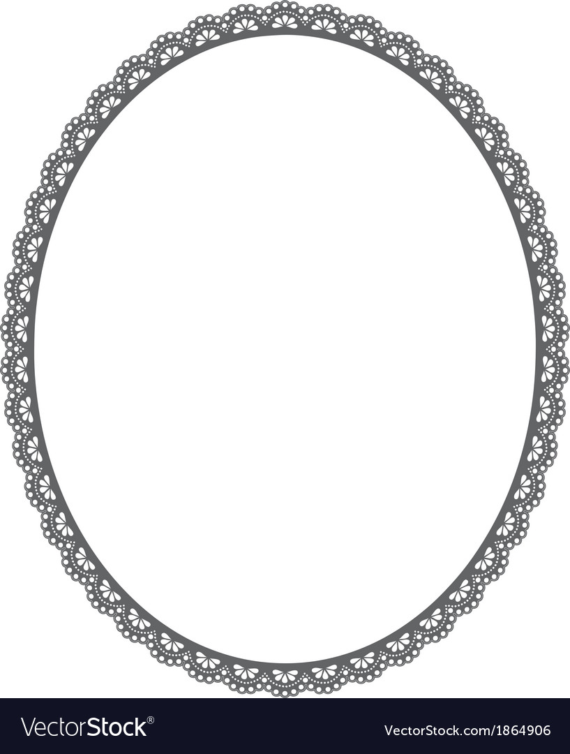 Oval frame on white background vector | Price: 1 Credit (USD $1)