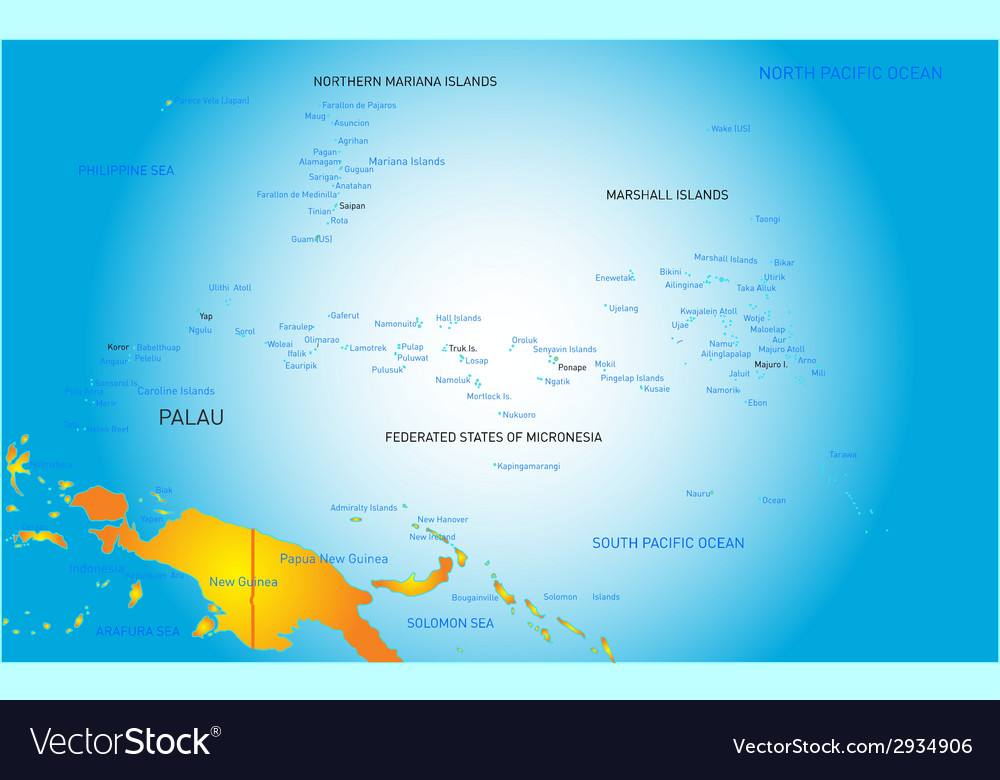 Palau map vector | Price: 1 Credit (USD $1)