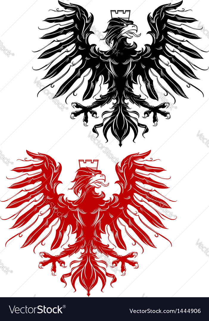 Royal heraldic eage vector | Price: 1 Credit (USD $1)