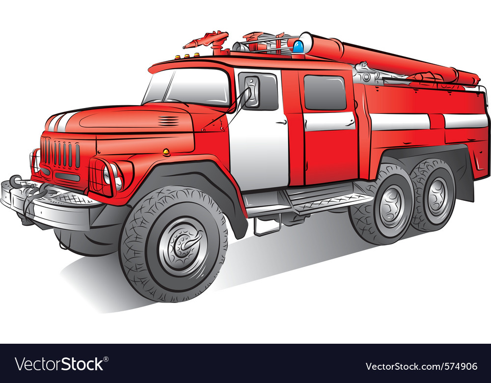 Russian fire engine vector | Price: 3 Credit (USD $3)