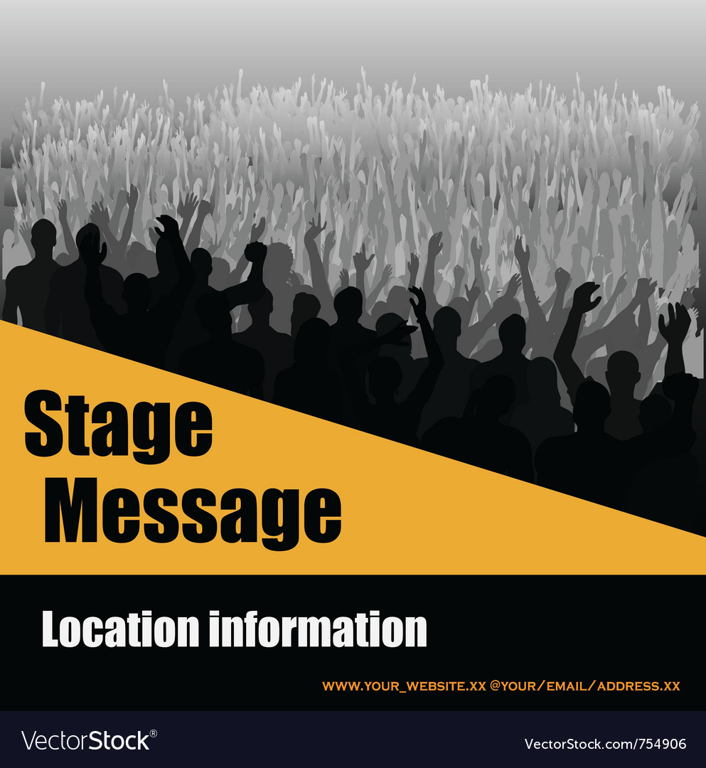 Stage message flyer vector | Price: 1 Credit (USD $1)