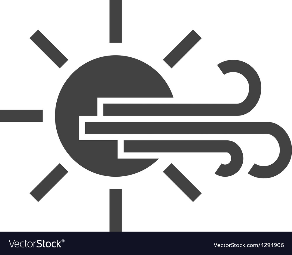 Sunny and windy vector | Price: 1 Credit (USD $1)