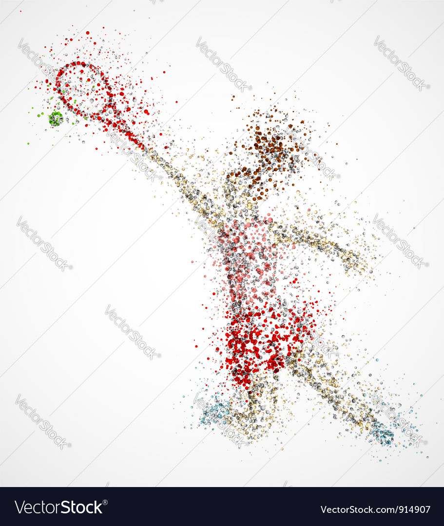 Abstract tennis player vector | Price: 1 Credit (USD $1)