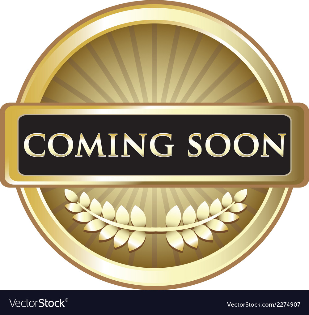 Coming soon gold award vector | Price: 1 Credit (USD $1)