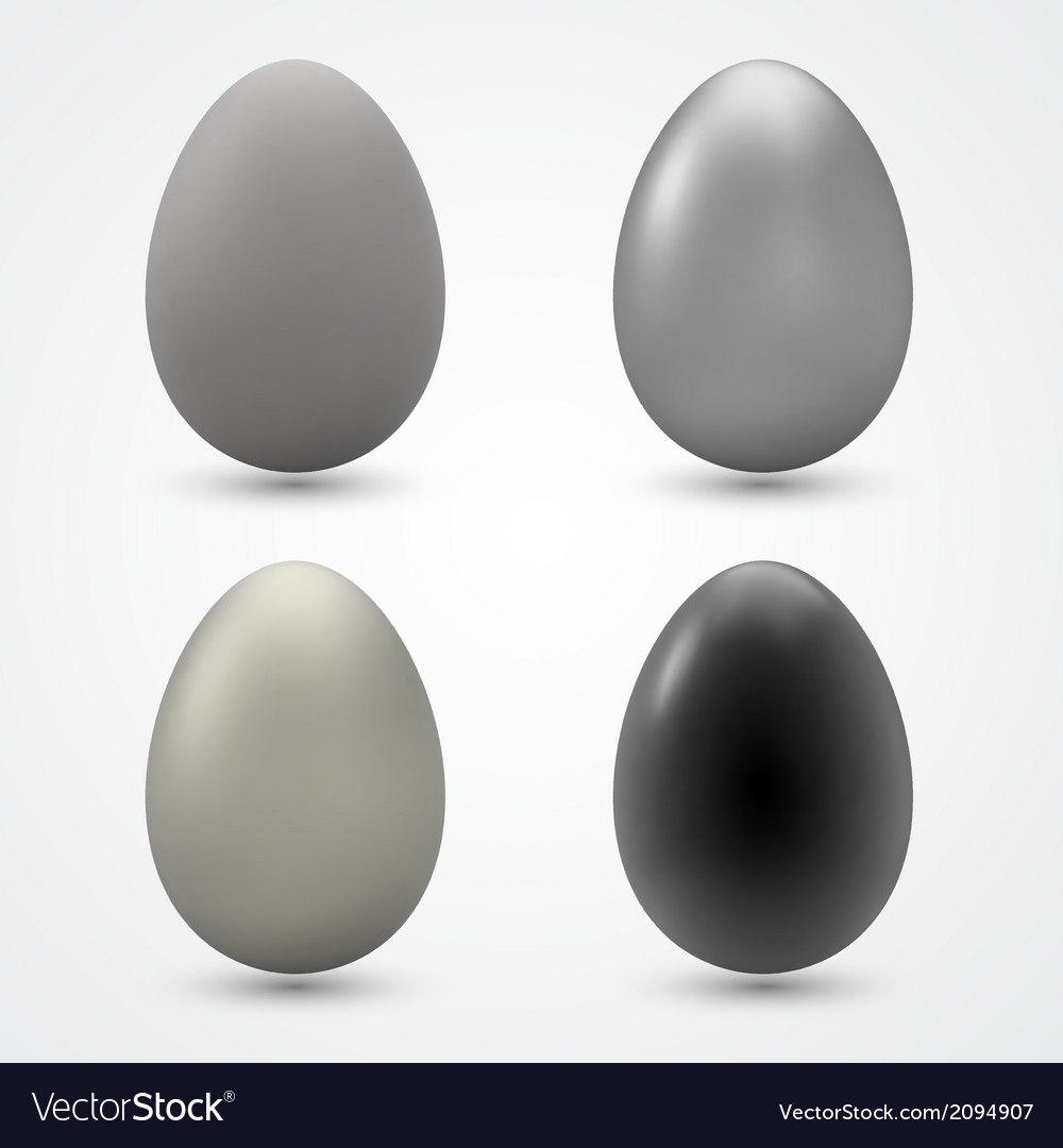 Easter eggs collection vector | Price: 1 Credit (USD $1)