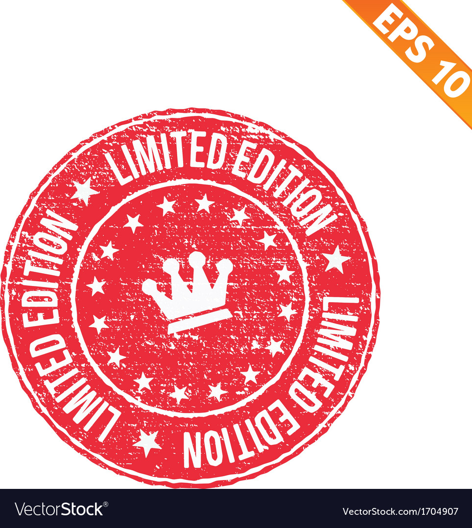 Grunge limited edition rubber stamp - - eps vector   Price: 1 Credit (USD $1)