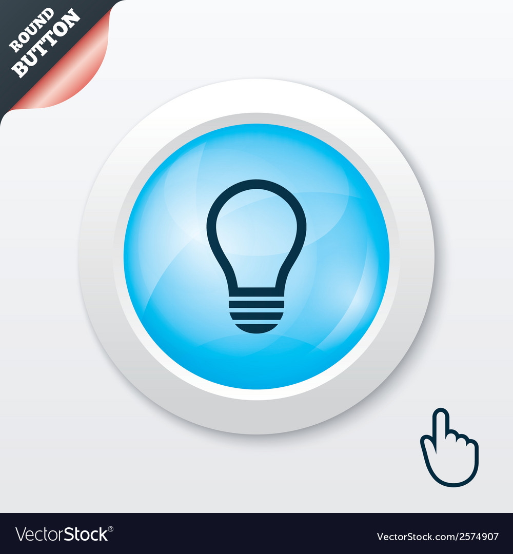 Light lamp sign icon idea symbol vector | Price: 1 Credit (USD $1)