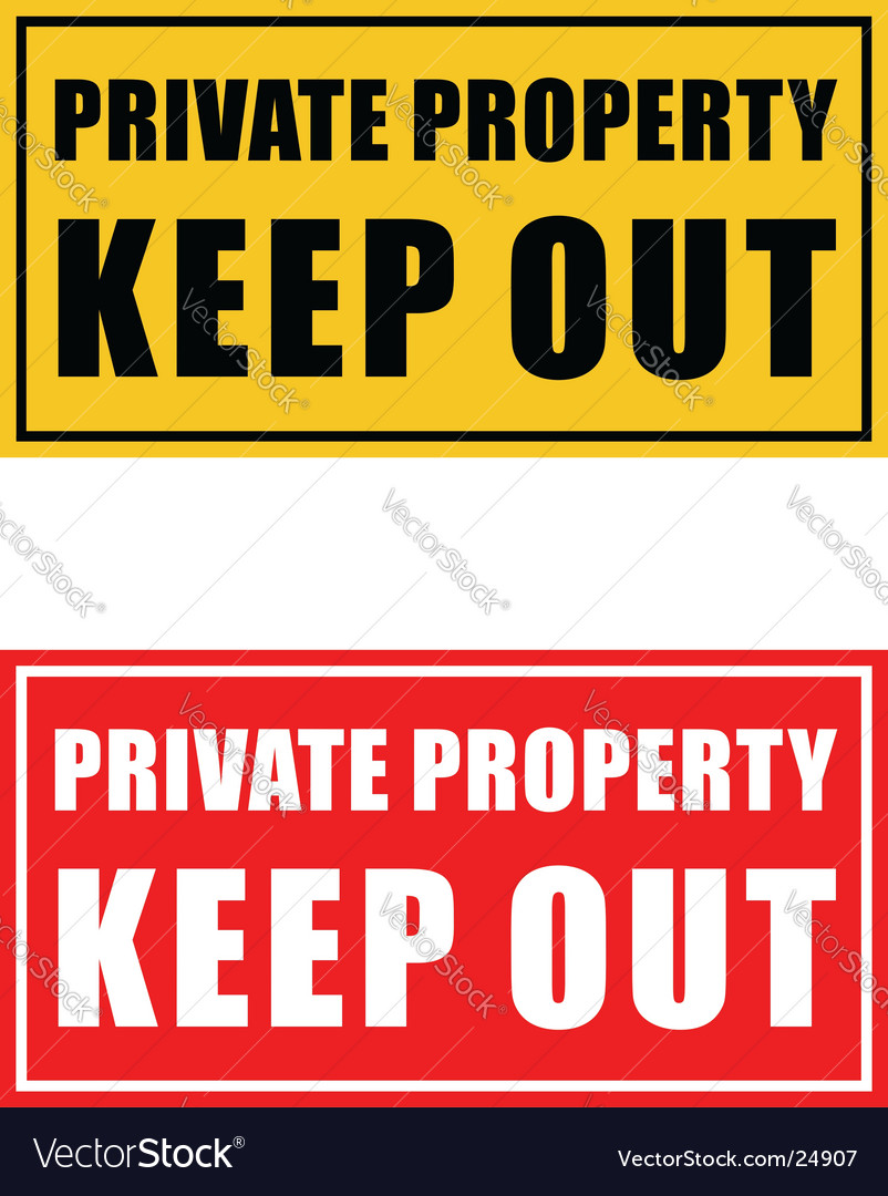 Private property signage vector | Price: 1 Credit (USD $1)