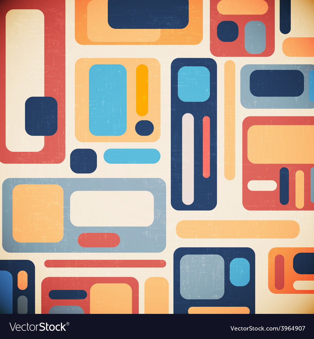 Retro geometrical abstract background vector | Price: 1 Credit (USD $1)