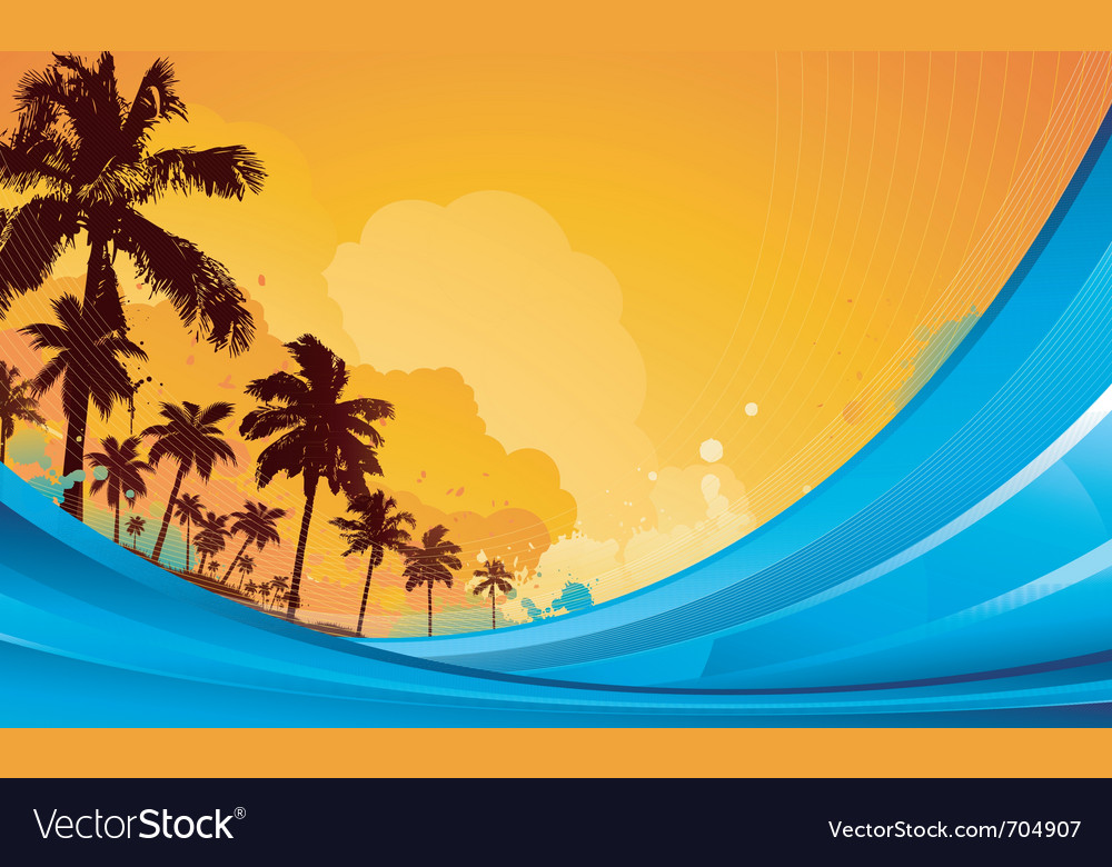 Tropical background vector | Price: 1 Credit (USD $1)