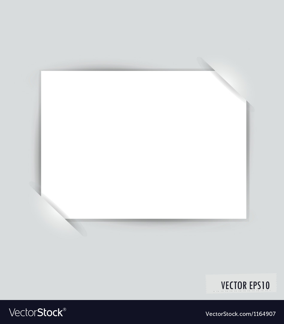 White note paper vector | Price: 1 Credit (USD $1)