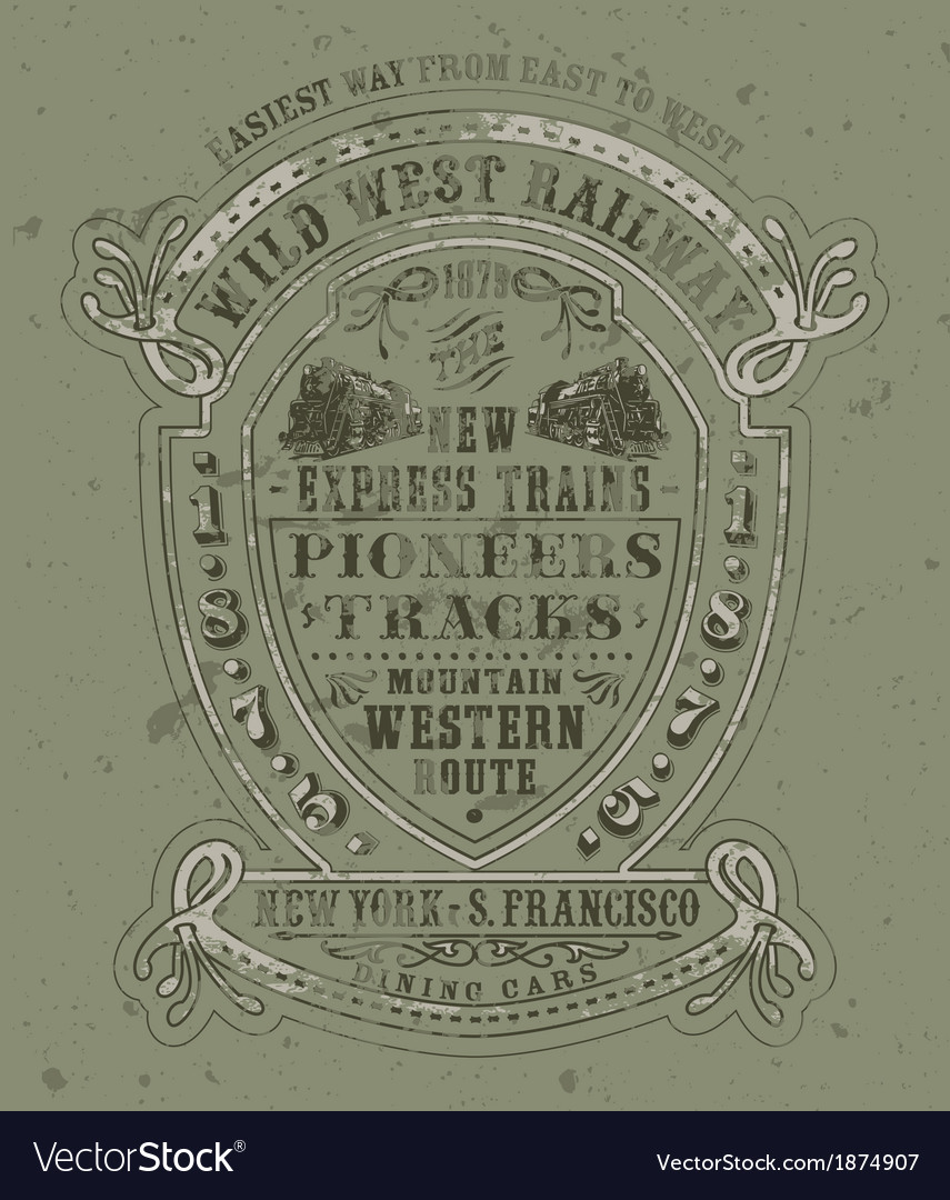 Wild west railway vector | Price: 1 Credit (USD $1)