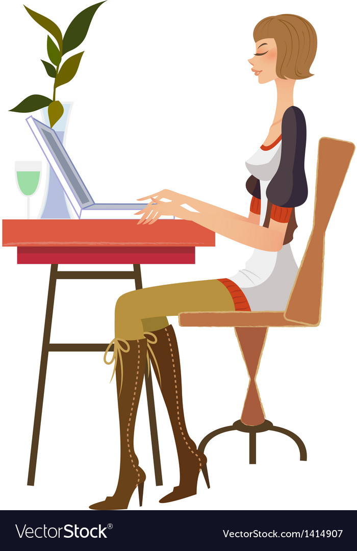 Woman at work vector | Price: 3 Credit (USD $3)