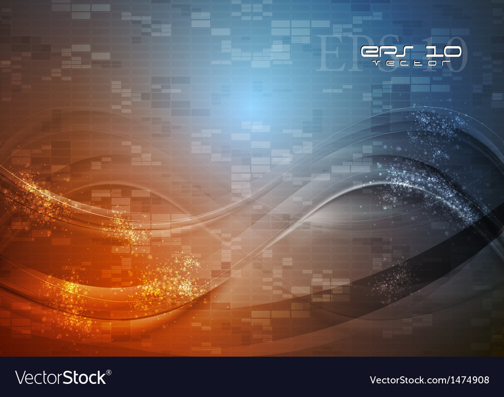 Abstract hi-tech wavy vector | Price: 1 Credit (USD $1)