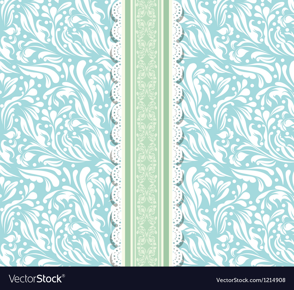 Blue background for valentine day card vector | Price: 1 Credit (USD $1)