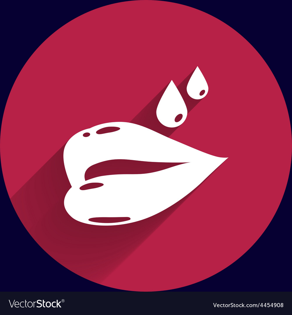 Bright red glossy lips are dripping vector | Price: 1 Credit (USD $1)