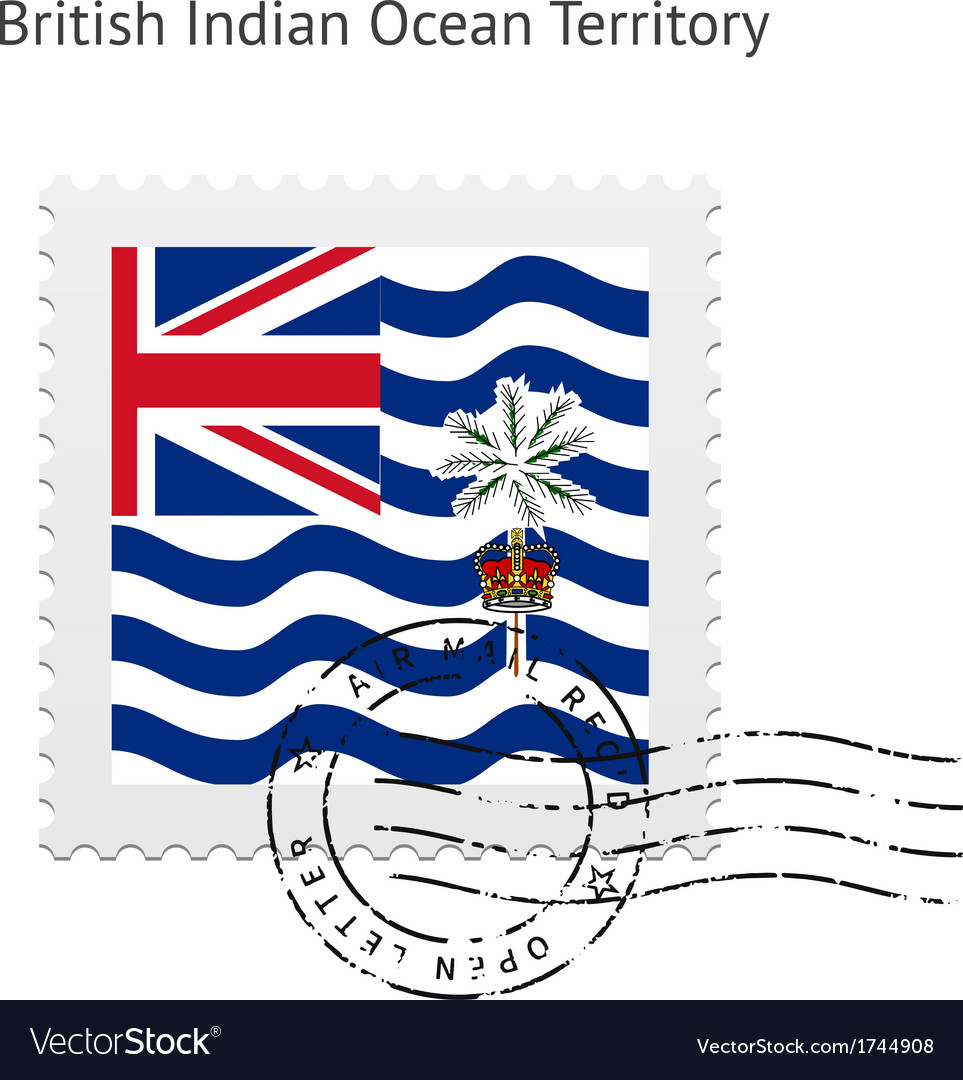 British indian ocean territory flag postage stamp vector | Price: 1 Credit (USD $1)