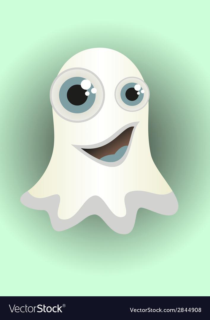 Cartoon ghost vector | Price: 1 Credit (USD $1)