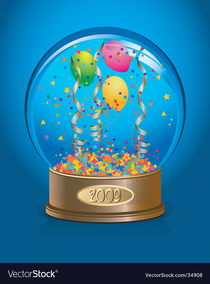 Celebration water-globe vector | Price: 1 Credit (USD $1)