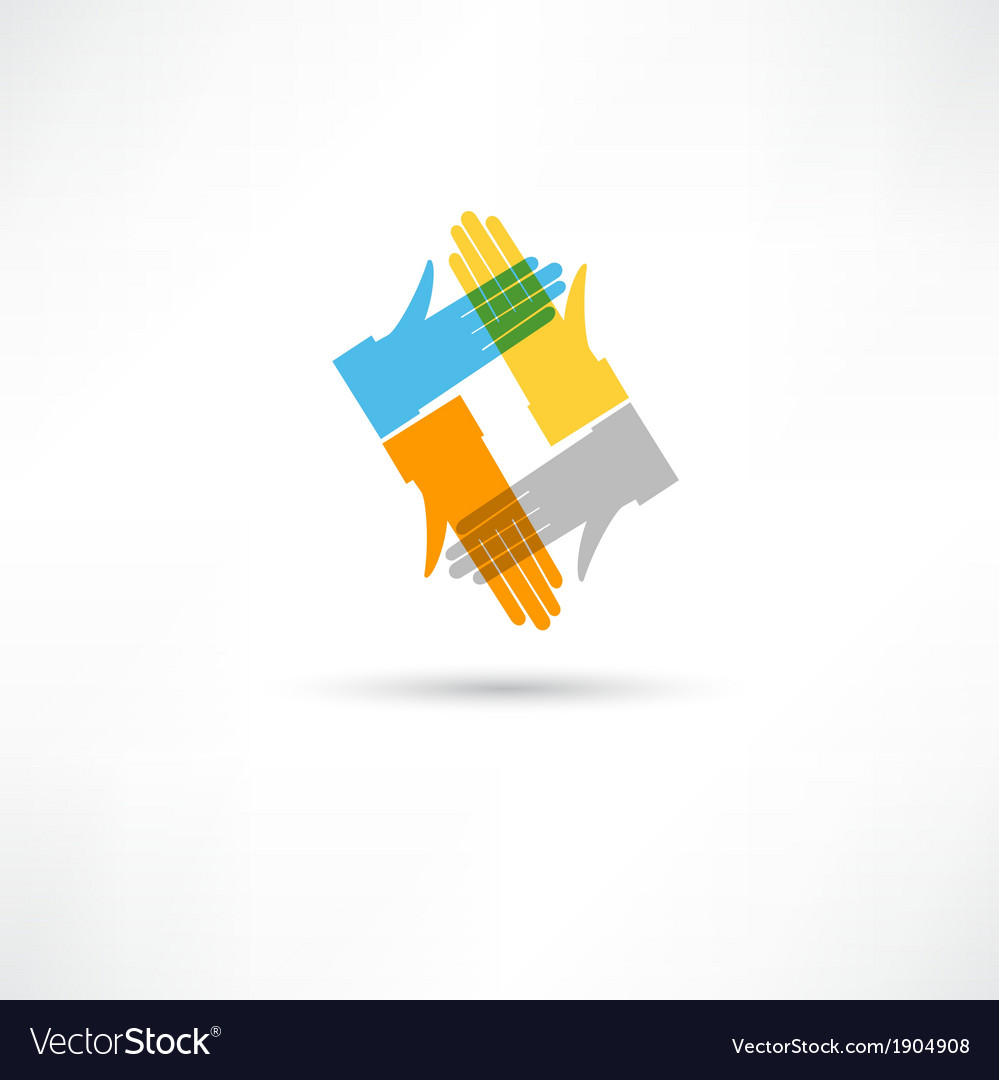 Communication hands vector | Price: 1 Credit (USD $1)