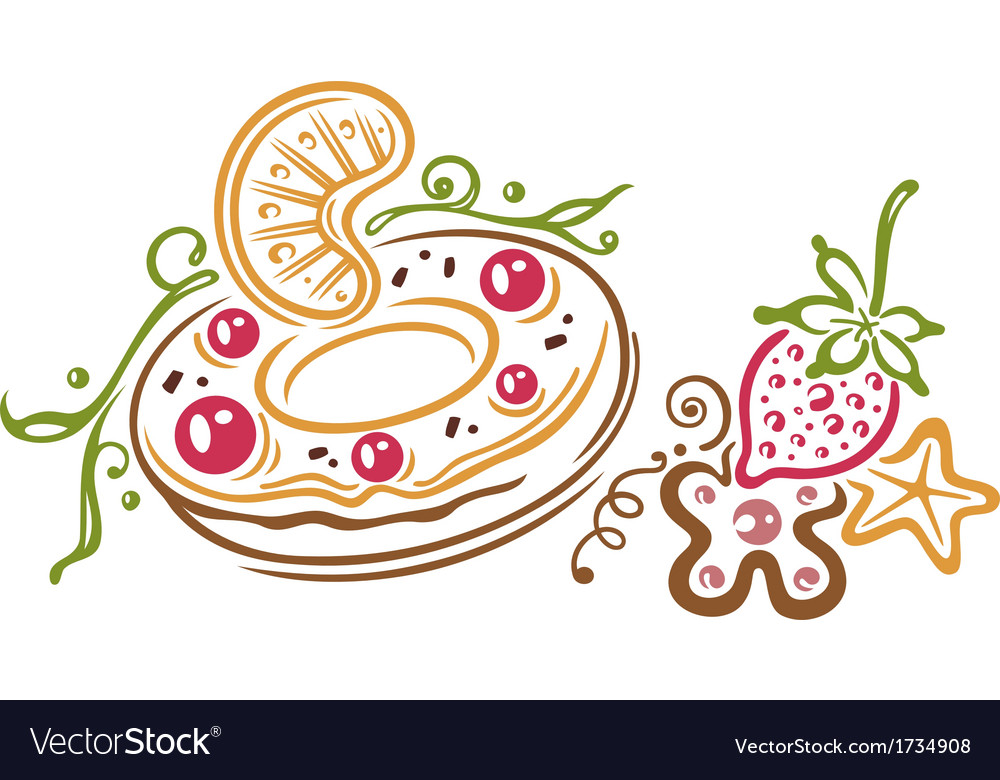 Donut fruits vector | Price: 1 Credit (USD $1)