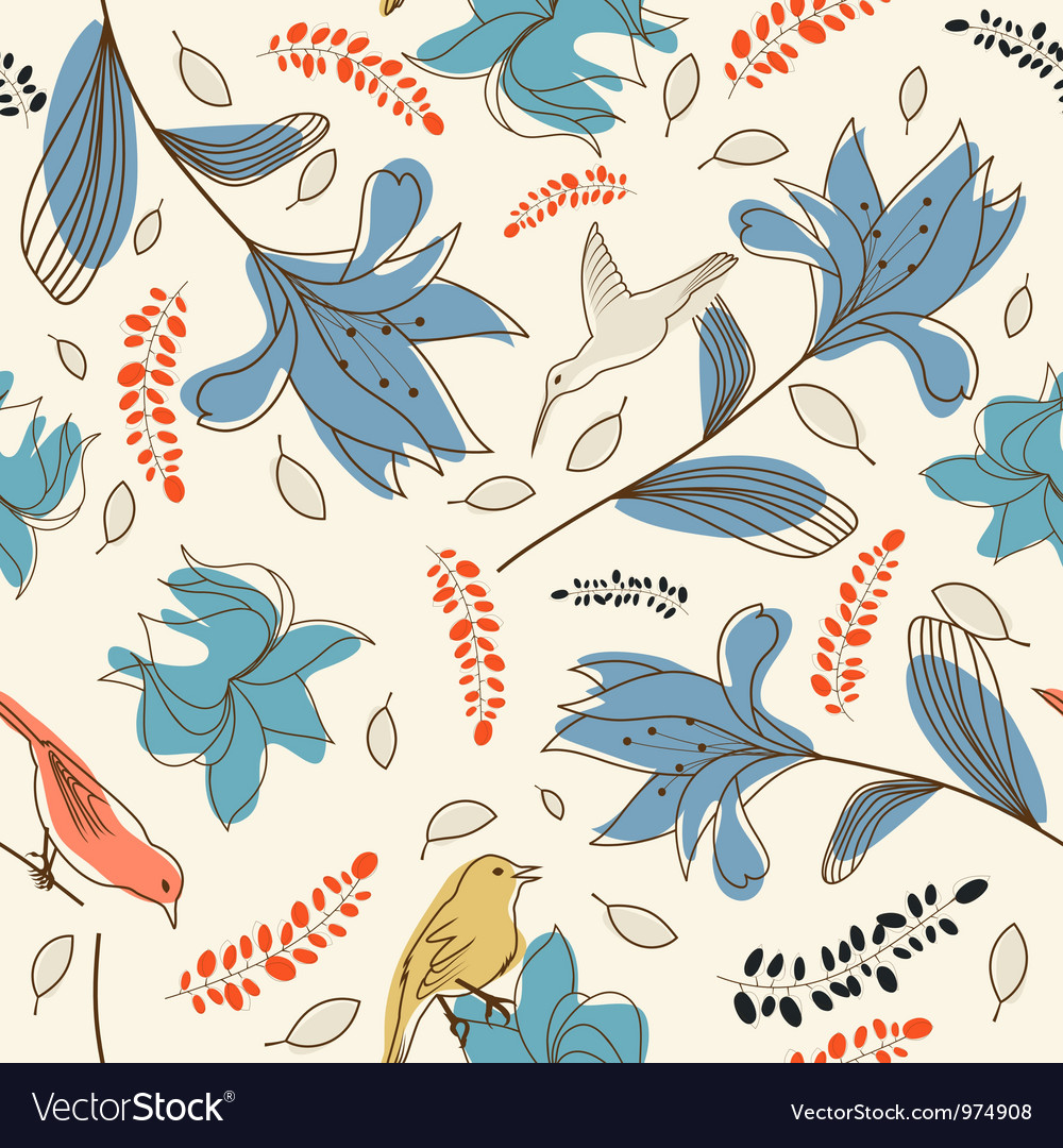 Floral seamless vector   Price: 1 Credit (USD $1)