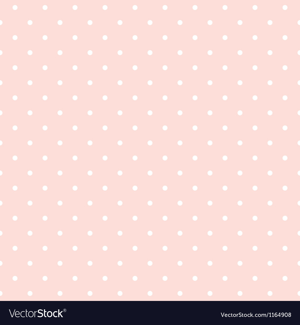 Seamless pattern white polka dots pink background vector