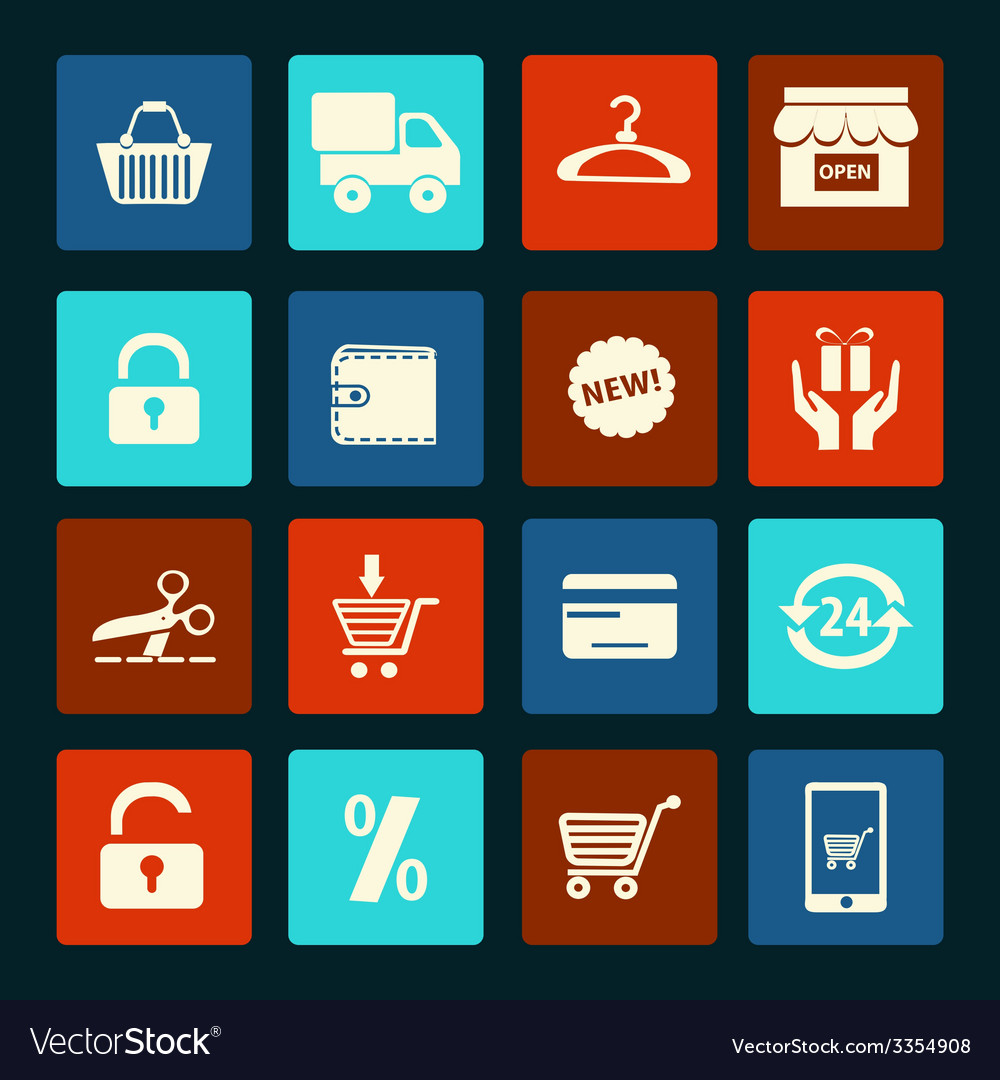 Shopping icons set - vector | Price: 1 Credit (USD $1)