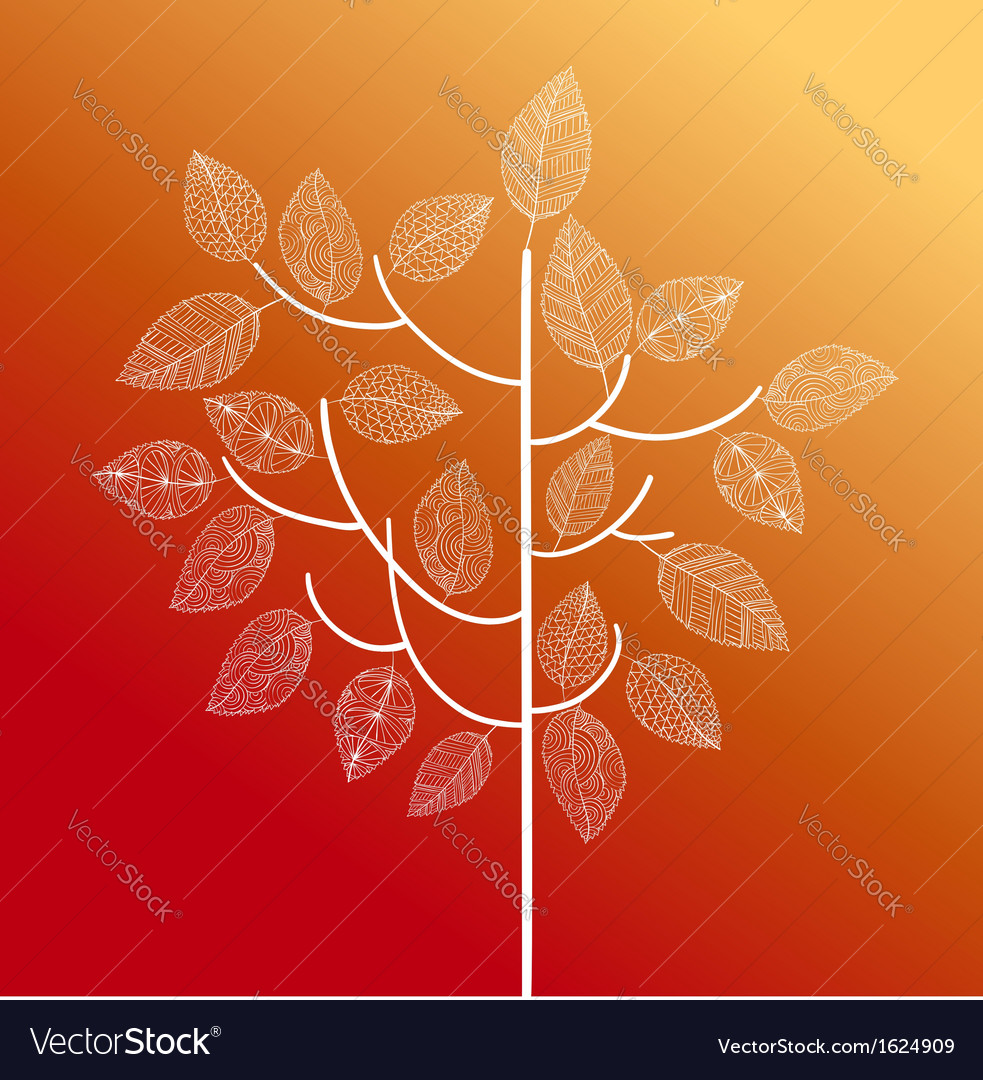 Abstract hand drawn tree autumn concept eps10 file vector | Price: 1 Credit (USD $1)