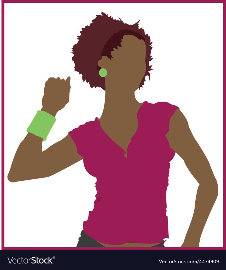 Black woman cartoon vector | Price: 1 Credit (USD $1)