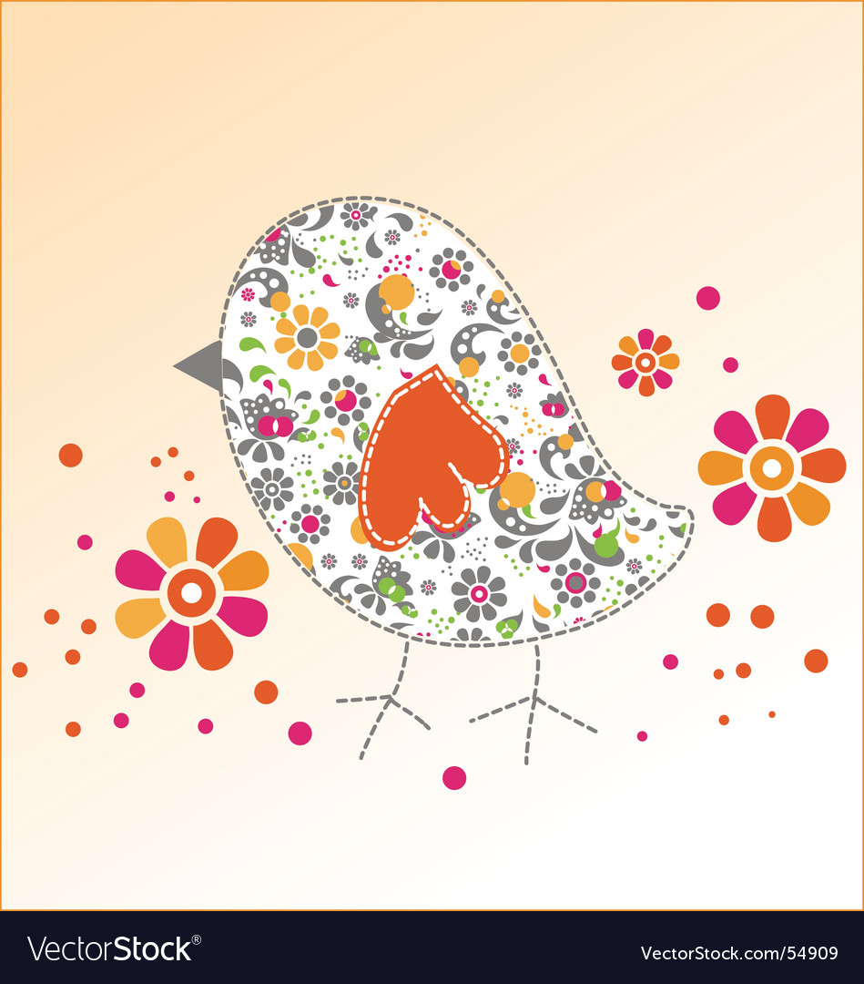 Cute birdie vector | Price: 1 Credit (USD $1)