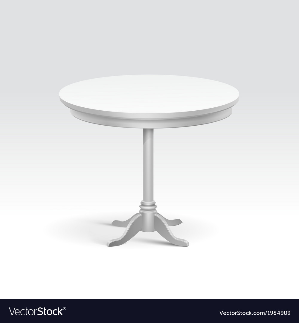 Empty round table vector | Price: 1 Credit (USD $1)