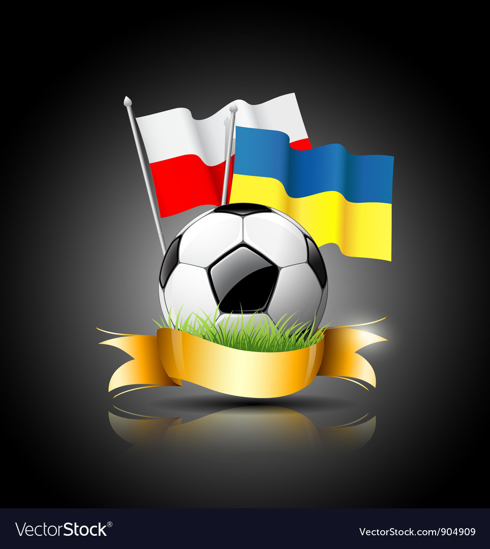 European football 2012 and flag vector | Price: 3 Credit (USD $3)