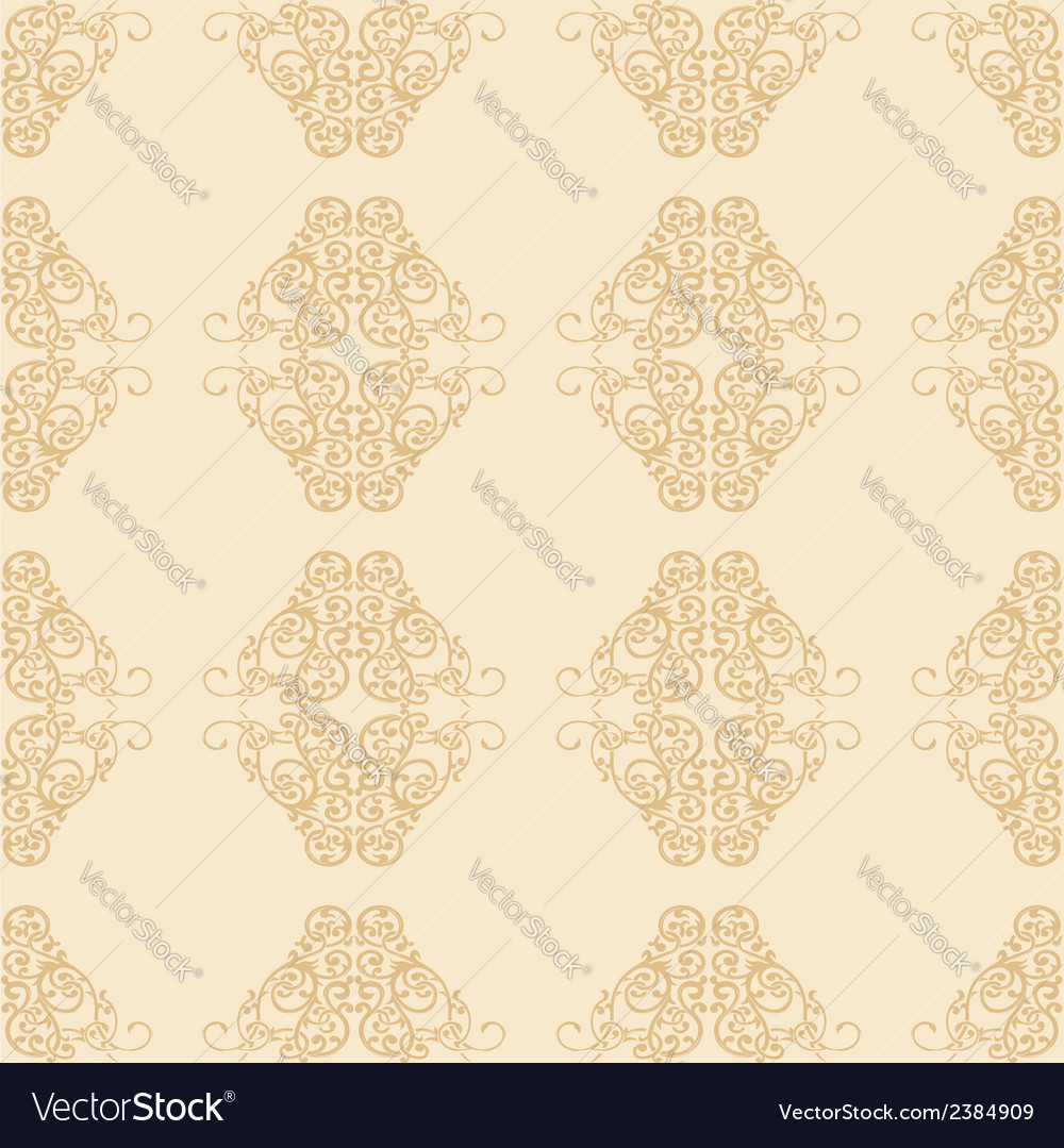 Floral ornament seamless pattern vector | Price: 1 Credit (USD $1)