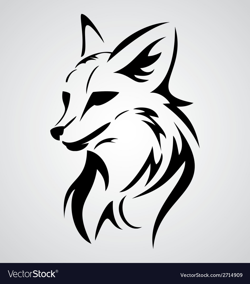 Fox tattoo design vector | Price: 1 Credit (USD $1)