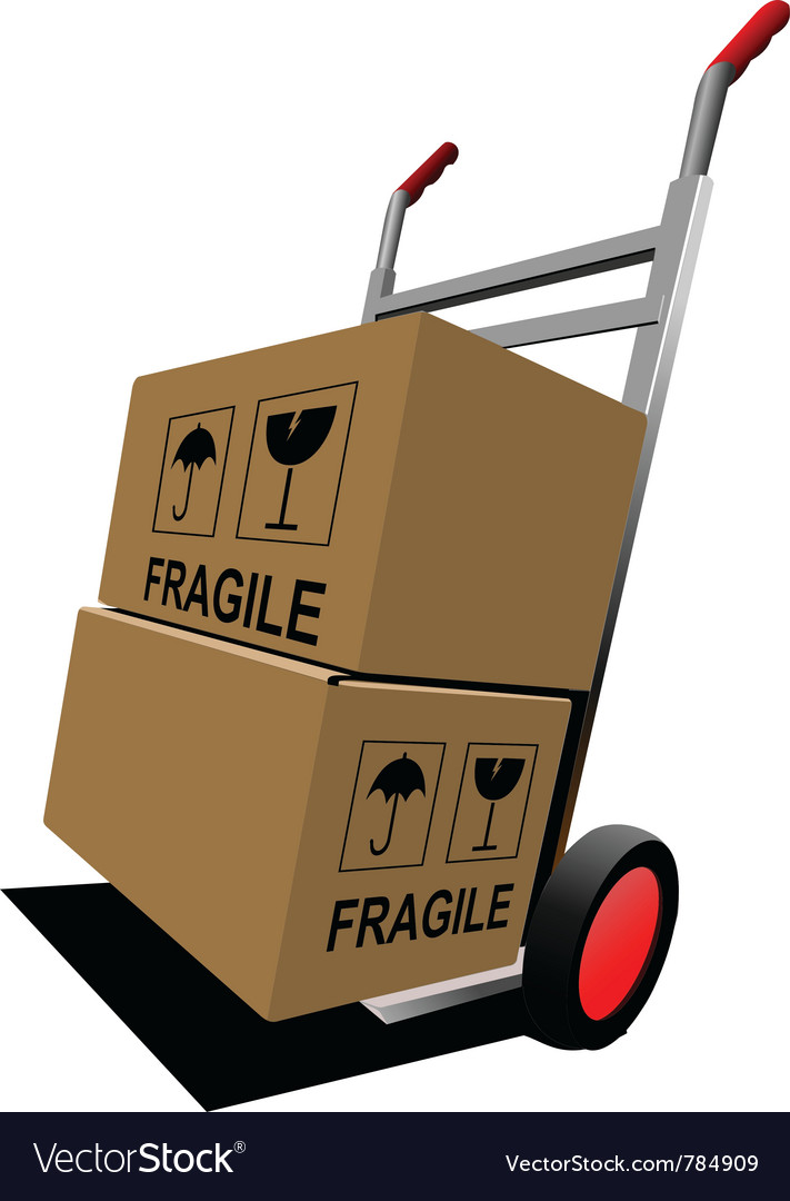 Fragile boxes vector | Price: 1 Credit (USD $1)