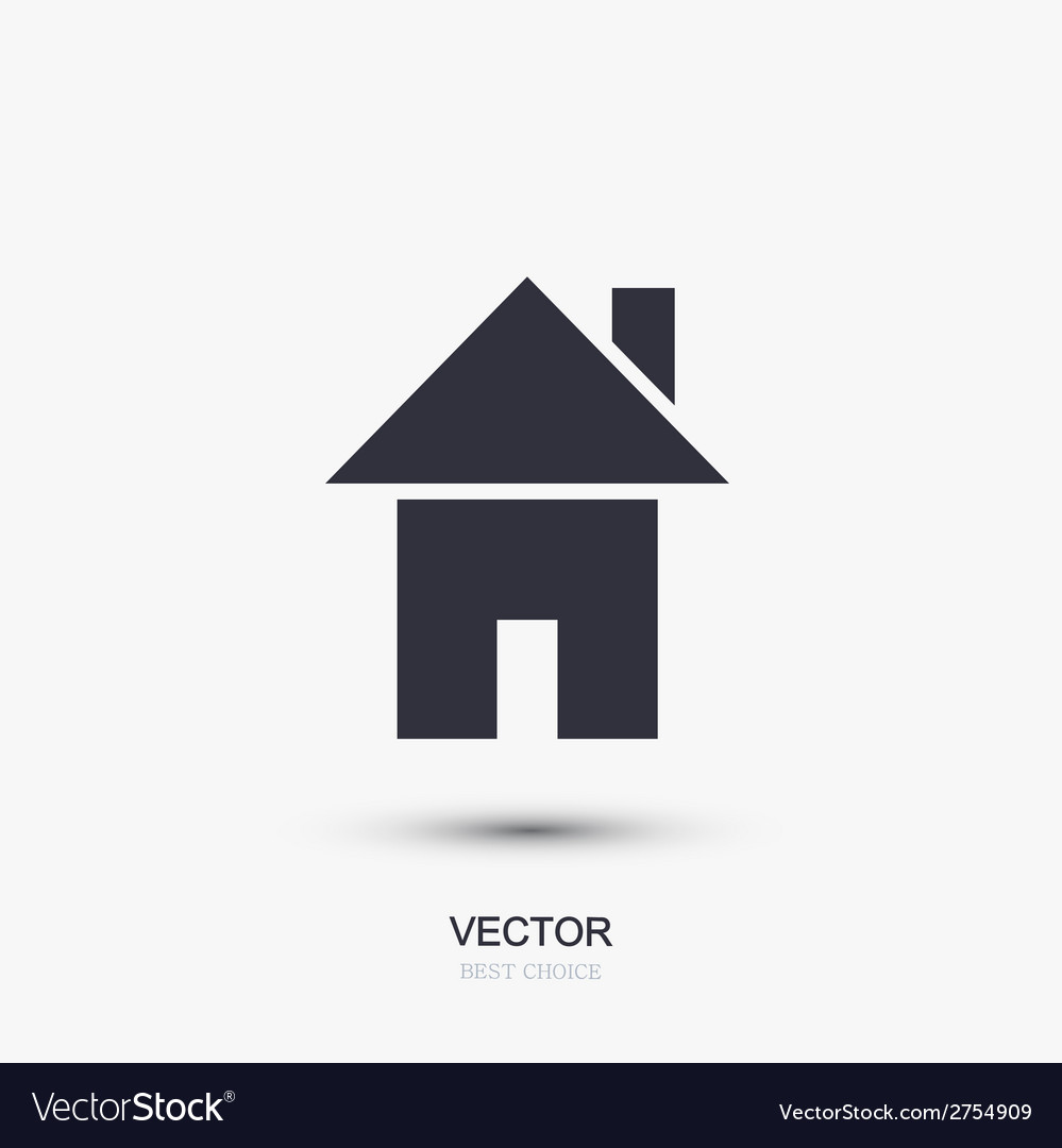 Modern real estate icon on white vector | Price: 1 Credit (USD $1)