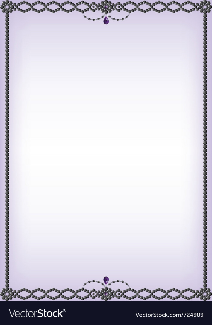 Onyx and amethyst bead border vector | Price: 1 Credit (USD $1)