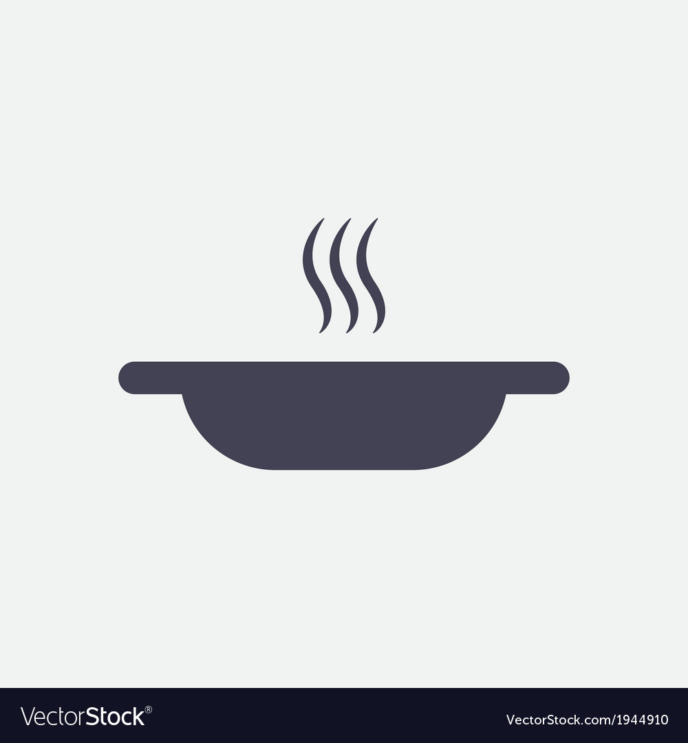 A plate of hot soup icon vector | Price: 1 Credit (USD $1)