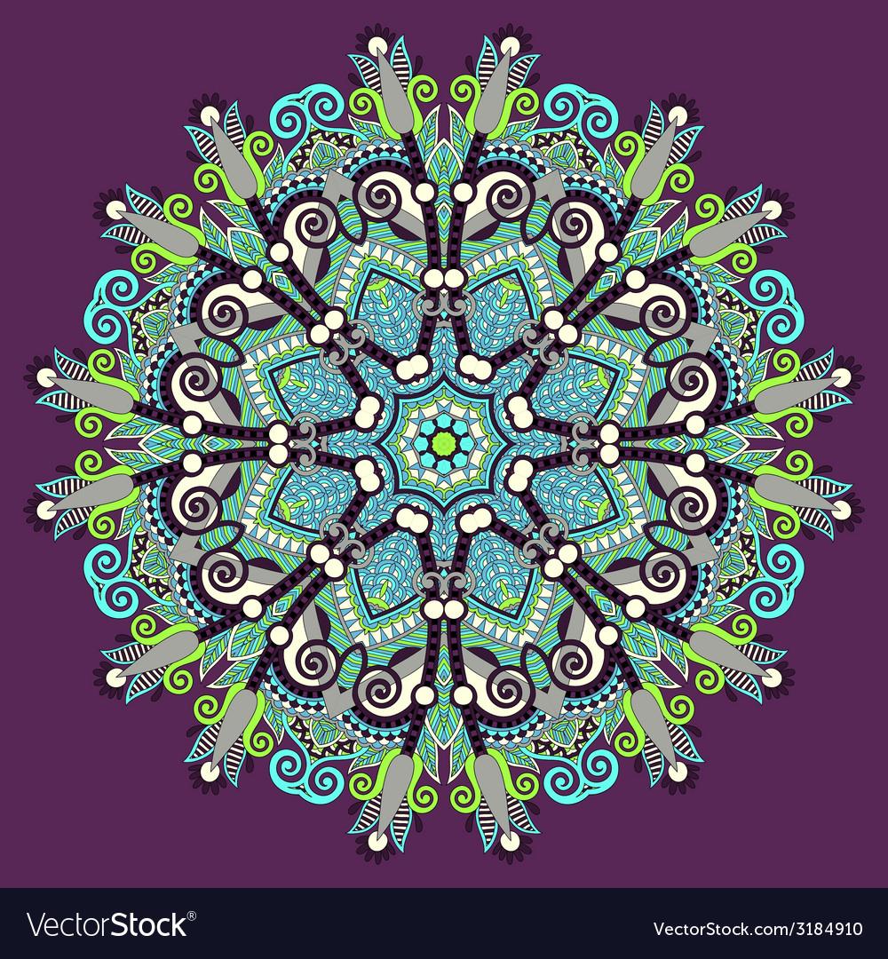 Beautiful vintage circular pattern of arabesques vector | Price: 1 Credit (USD $1)