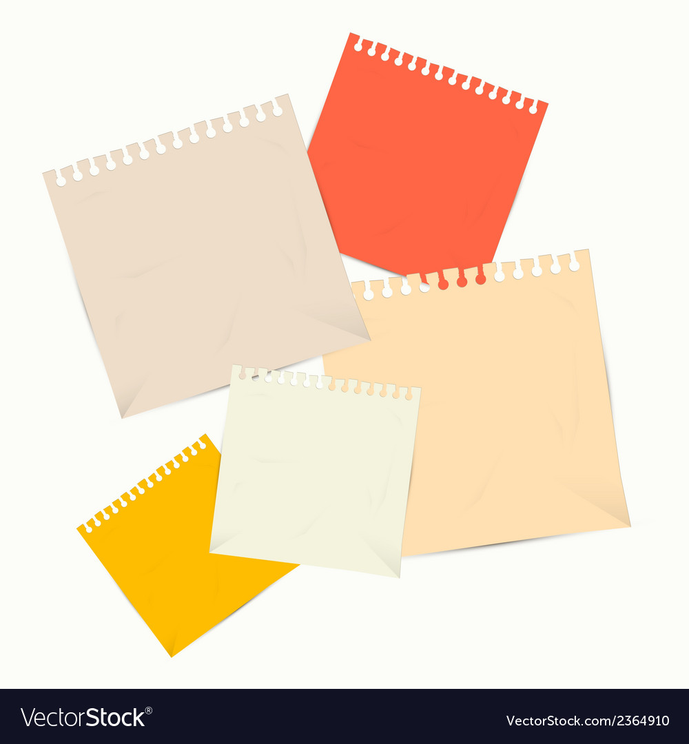 Colorful empty paper sheets vector | Price: 1 Credit (USD $1)
