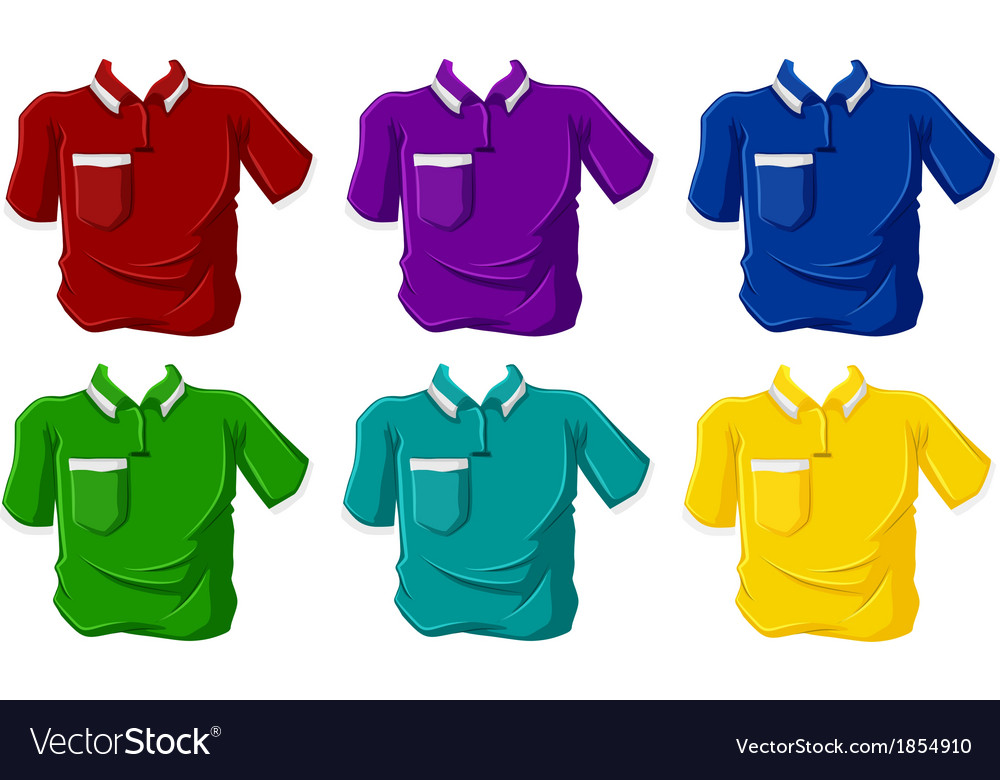 Colorful polo shirts vector | Price: 1 Credit (USD $1)